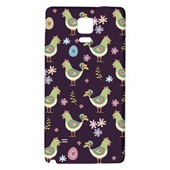 Easter Pattern Galaxy Note 4 Back Case by Valentinaart