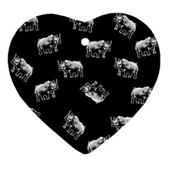 Rhino Pattern Ornament (heart) by Valentinaart