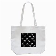 Rhino Pattern Tote Bag (white) by Valentinaart