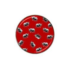 Rhino Pattern Hat Clip Ball Marker by Valentinaart
