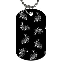 Rabbit Pattern Dog Tag (two Sides) by Valentinaart