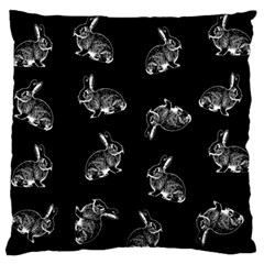 Rabbit Pattern Large Flano Cushion Case (two Sides) by Valentinaart