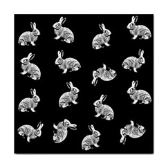 Rabbit Pattern Tile Coasters by Valentinaart