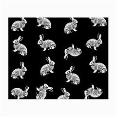Rabbit Pattern Small Glasses Cloth by Valentinaart