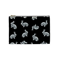 Rabbit Pattern Cosmetic Bag (medium)  by Valentinaart