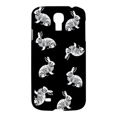 Rabbit Pattern Samsung Galaxy S4 I9500/i9505 Hardshell Case by Valentinaart