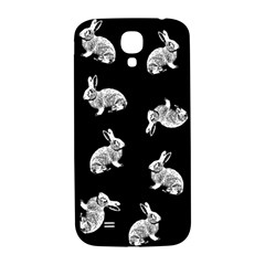 Rabbit Pattern Samsung Galaxy S4 I9500/i9505  Hardshell Back Case by Valentinaart