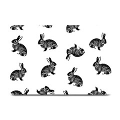 Rabbit Pattern Plate Mats by Valentinaart