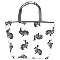 Rabbit Pattern Bucket Bags by Valentinaart