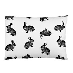Rabbit Pattern Pillow Case by Valentinaart