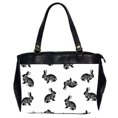 Rabbit Pattern Office Handbags (2 Sides)  by Valentinaart
