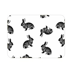 Rabbit Pattern Double Sided Flano Blanket (mini)  by Valentinaart