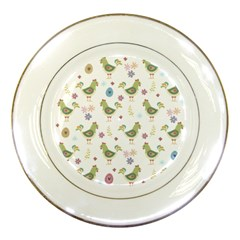 Easter Pattern Porcelain Plates by Valentinaart