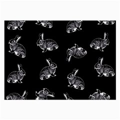 Rabbit Pattern Large Glasses Cloth (2 Side) by Valentinaart