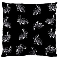 Rabbit Pattern Large Cushion Case (one Side) by Valentinaart
