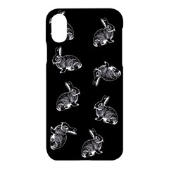Rabbit Pattern Apple Iphone X Hardshell Case by Valentinaart
