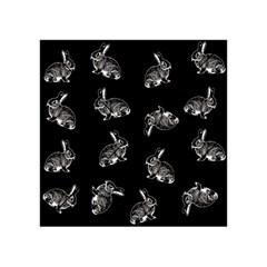 Rabbit Pattern Acrylic Tangram Puzzle (4  X 4 ) by Valentinaart