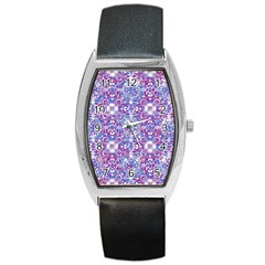 Cracked Oriental Ornate Pattern Barrel Style Metal Watch by dflcprints