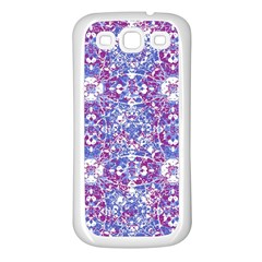 Cracked Oriental Ornate Pattern Samsung Galaxy S3 Back Case (white) by dflcprints