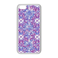 Cracked Oriental Ornate Pattern Apple Iphone 5c Seamless Case (white) by dflcprints
