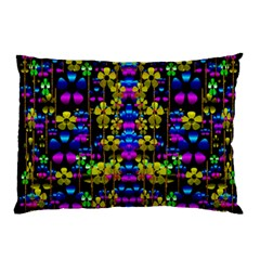 Flowers In The Most Beautiful  Dark Pillow Case by pepitasart