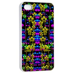 Flowers In The Most Beautiful  Dark Apple Iphone 4/4s Seamless Case (white) by pepitasart