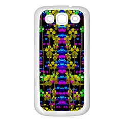 Flowers In The Most Beautiful  Dark Samsung Galaxy S3 Back Case (white) by pepitasart