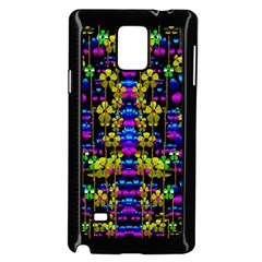 Flowers In The Most Beautiful  Dark Samsung Galaxy Note 4 Case (black) by pepitasart