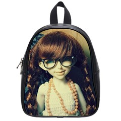 Red Braids Girl Old School Bag (small) by snowwhitegirl