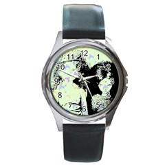 Mint Wall Round Metal Watch