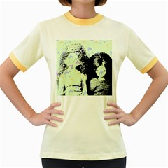 Mint Wall Women s Fitted Ringer T-Shirts