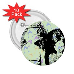 Mint Wall 2.25  Buttons (10 pack)