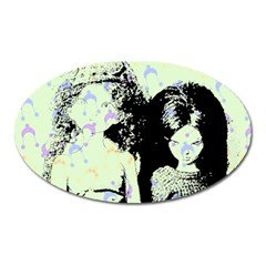 Mint Wall Oval Magnet
