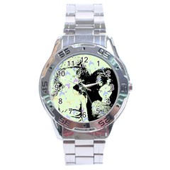 Mint Wall Stainless Steel Analogue Watch