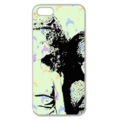 Mint Wall Apple Seamless iPhone 5 Case (Clear)