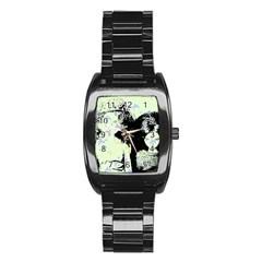 Mint Wall Stainless Steel Barrel Watch