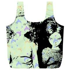 Mint Wall Full Print Recycle Bags (l)  by snowwhitegirl