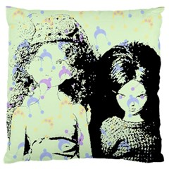 Mint Wall Large Flano Cushion Case (One Side)