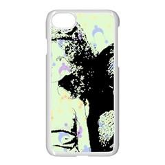 Mint Wall Apple Iphone 7 Seamless Case (white) by snowwhitegirl