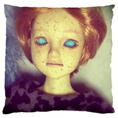 Freckley Boy Large Cushion Case (one Side) by snowwhitegirl