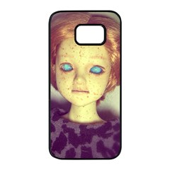 Freckley Boy Samsung Galaxy S7 Edge Black Seamless Case by snowwhitegirl