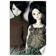 Dolls In The Grass Canvas 24  X 36  by snowwhitegirl