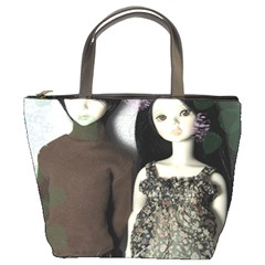 Dolls In The Grass Bucket Bags by snowwhitegirl
