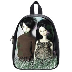 Dolls In The Grass School Bag (small) by snowwhitegirl