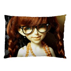 Red Braids Girl Pillow Case (two Sides) by snowwhitegirl