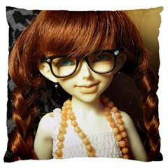 Red Braids Girl Large Cushion Case (two Sides) by snowwhitegirl