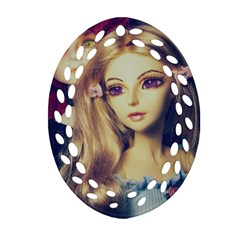 Doll Couple Oval Filigree Ornament (two Sides) by snowwhitegirl