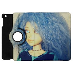 Blue Hair Boy Apple Ipad Mini Flip 360 Case by snowwhitegirl