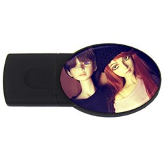 Couple Usb Flash Drive Oval (4 Gb) by snowwhitegirl