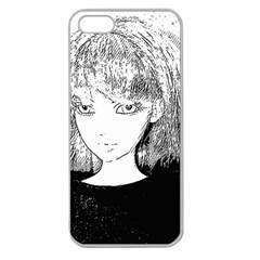 Girl Apple Seamless Iphone 5 Case (clear) by snowwhitegirl